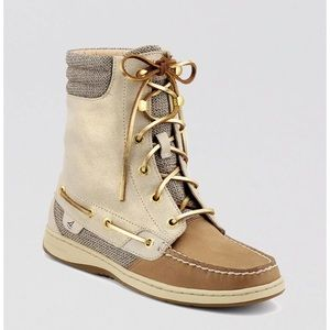 Sperry Boat Shoes- Hightop